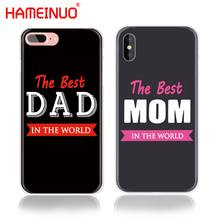 hameinuo the best mom dad cell phone cover case for iphone 6 4 4s 5 5s