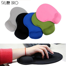 SKULL BRO Ergonomic Non-slip Mouse Pad Gel Wrist Rest Pad for Macbook PC laptop Desktop Mice Pad with Wrist Support