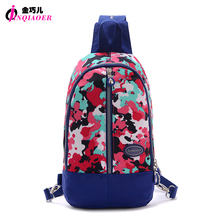 JINQIAOER Multifunctional Women Mini Backpack Waterproof Nylon Rucksack Chest Bag Original Brand Travel Backpack For Laptop iPad
