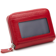 Small Slim Wallets Men Brown Cowhide Genuine Leather Purse Keys Pouch Holder Manager Patent Buckle Card Holder Case Car Keychain(China)