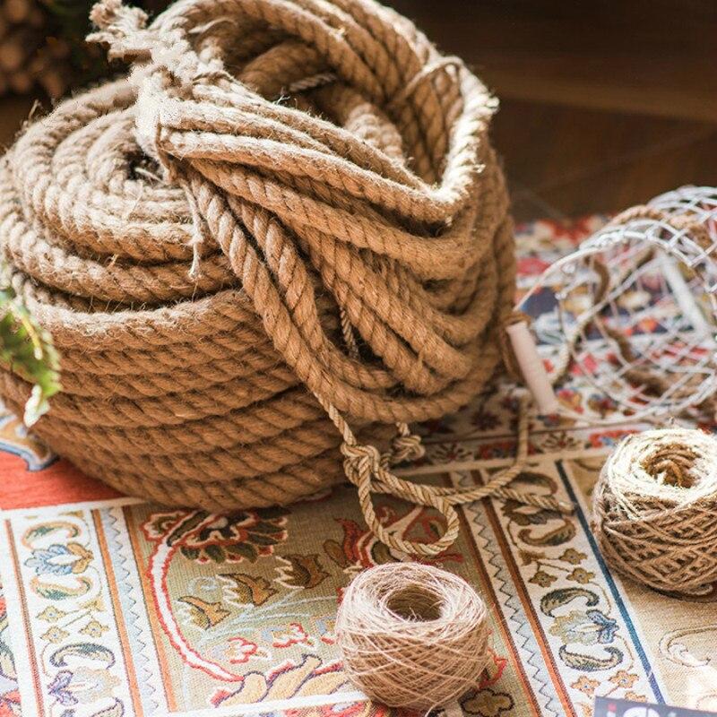 Gardening Home Accessories Cords Twine Natural Jute Burlap Hemp Rope Handmade
