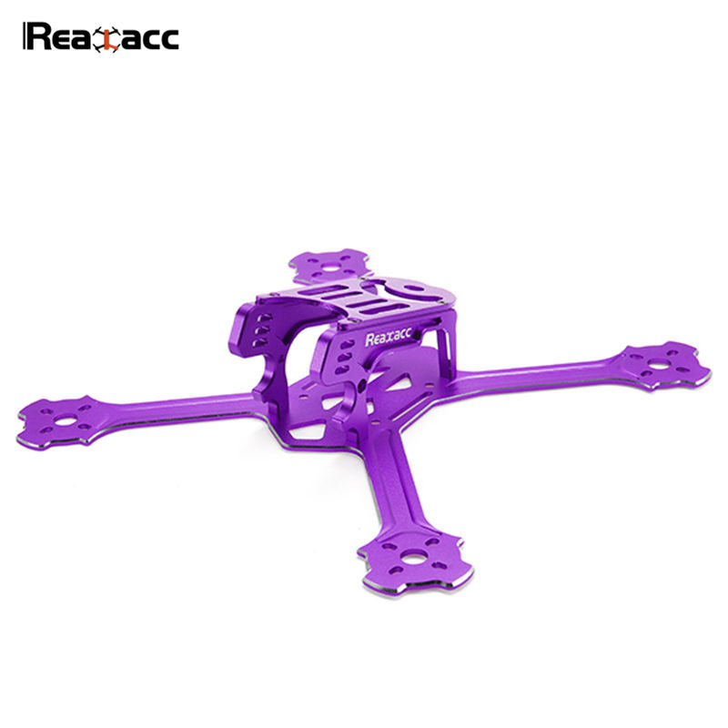Original Realacc Metalstar 200mm 3mm Arm Thickness 7075+6061 CNC Aluminum Frame Kit For Racerstar 20A ESC Motor RC Toy Black Red<br>