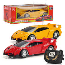 1/24 electric Car kids electric car Toys Wireless Electric Drift Car With LED Light Toy Gift For Children Boys With Original Box(China)