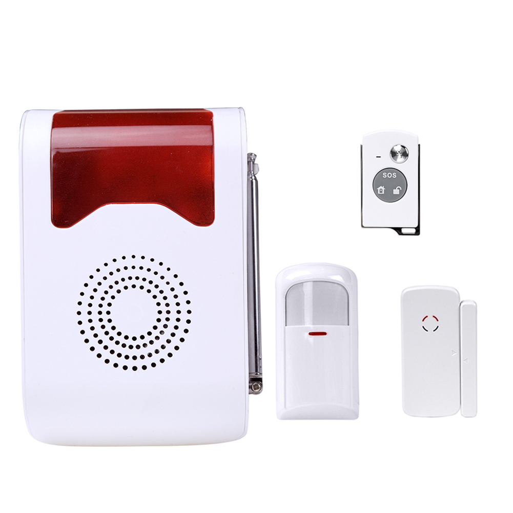 Remote Control Home Security Alarm Voice Prompt Alarm Security System Door Sensor Wireless Strobe Home Burglar Security Alarm <br>