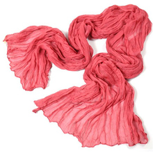100% Cotton Scarf Women Luxury Solid Soft Shawls and Scarves Brand Large Foulard femme Fashion Accessories #LOM01 MY31