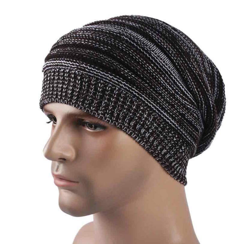 Men Winter Baggy Cap Beanies Crochet Hip-hop Slouchy Skullies Bonnet Cap Oversize Hat Drop Shippig WDec8Îäåæäà è àêñåññóàðû<br><br><br>Aliexpress