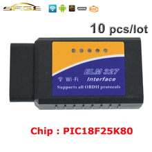 Viecar (10 Pieces/Lot) ELM327 WIFI ELM 327 V1.5 OBD2 / OBDII for Android IOS Car Code Reader