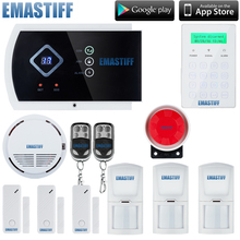 Modern stylish Android App DIY GSM alarm system touch screen backup battery for residential homes and business(China)