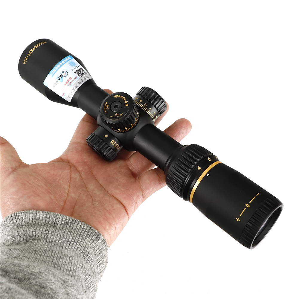 SNIPER VT 4-16X40 MFPSA First Focal Plane Hunting Rifle Scope Side AO Glass Etched Reticle Tactical Optical Sight Riflescopes (12)