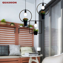 Morden iron-art vintage flower pot plants pendant light american style pendant lamp single-head modern brief lighting(China)