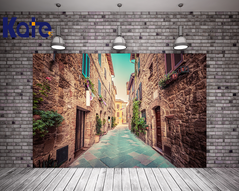 Kate Backdrop Retro Brick Building Wedding Photography Background Brick Photo Studio Backdrops<br>