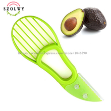 new 3-in-1 Avocado Slicer Fruit Avocado Cutter Corer Slicer Good Kitchen Gadgets Cooking Tool Accessories(China)