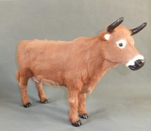 big new creative simulation cow toy lovely handicraft cow doll gift Furnishing articles about 46x29cm