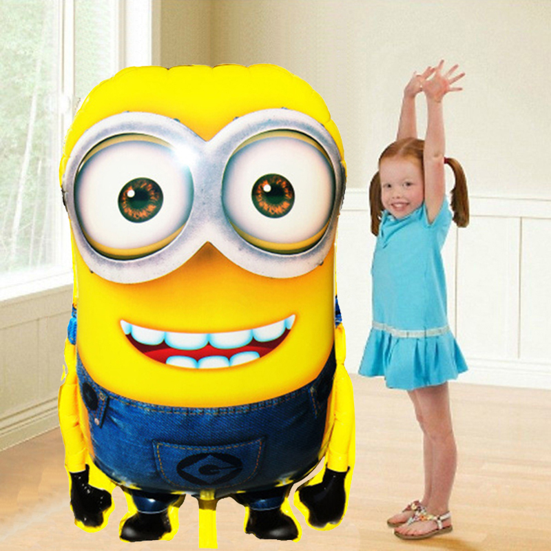 92*65cm Ultra Large Size Cartoon Despicable Me 2 Balloon Minions Event Supplies for Boy Girl Kids Birthday Party Decoration(China (Mainland))