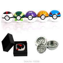 colorful Pokeball Pokemon Herb Weed Grinder Mill Pipe Tobacco Smoking Utensils  Detectors Pipes Grinding Smoke best gifts