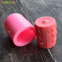 New Arrival Hemp Pillars Shape Silicone Candle Mold DIY Handmade Soap Mould Craft Resin Clay Decoration Tool SQ17148