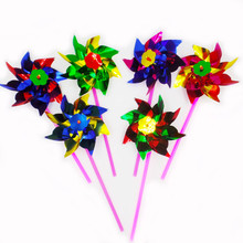 100pcs/lot color plastic windmill baby toys for children/toy/Outdoor children's toys(China)