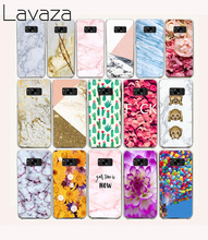 Lavaza 43O white marble and Roses Hard Case for Samsung Galaxy S6 S7 Edge S8 Plus S2 S3 S4 S5 Mini Cover