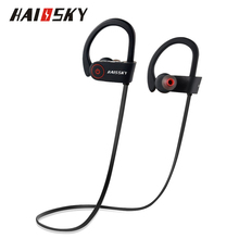 HAISSKY S8 Universal Bluetooth 4.1 Wireless Stereo Sports Fitness Running Earphone For iPhone 7 6 6S Samsung Headsets Microphone