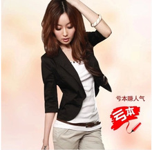 The spring and autumn small suit female coat size seven pure Korean Slim small suit all-match
