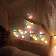 2017 New 110V/220V 5M 28 Multicolor Colorful Creative Aladin Handmade Durable Cotton BALL String Light For Xmas Feast Ornament