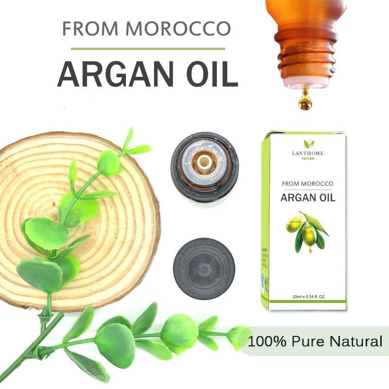 Genuine Morocco Argan Oil Hair Care Keratin 100% PURE Glycerol Nut Oil Hair Oil Mask Essential Coconut Oil Cuticle 10ml 4