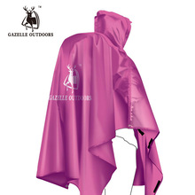 GAZELLE Single Person Poncho Raincoat Backpack Cover Outdoor Awning Camping Mini Tarp Sun Shelter 210T Taffeta(China)
