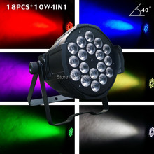 new arrival 18*10W RGBW LED par can light led par 64 pro stage light for night club lighting party event lights(China)
