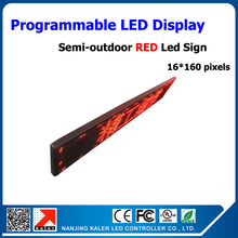 Programmable advertising led screen board red color high brightness 16*160 pixels p10 led display panel semi-outdoor