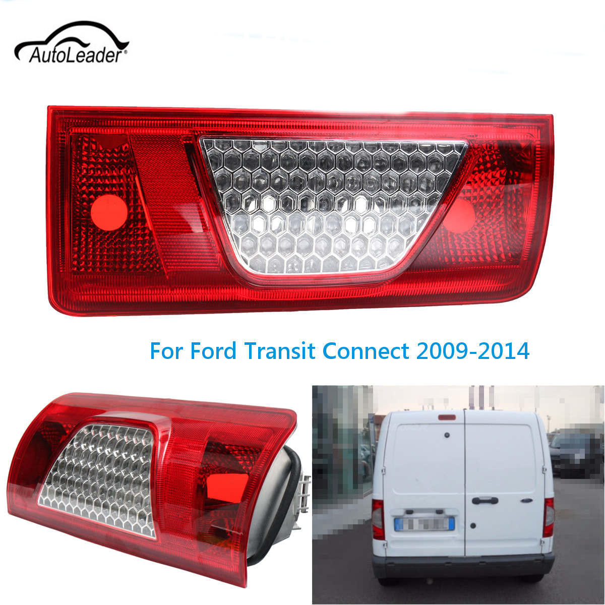 1Pcs Car Rear Tail Lamp Light Lens Right/Left Replacement light Cover For Ford Transit/Connect 2009-2014<br>