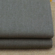meter grey zakka table cloth linen cotton fabric for clothing trousers sofa cover dark gray linen fabric tecido