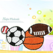 Embroidered Patch Rugby football basketball Iron on Patches For Clothing ( t shirt , clothes , bag , shoes ,hat ) Free Shipping