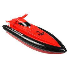 New RC Boat 20km/h Remote Control Speed Strong Double Motor Powerful Streamline Hull Design High Speed Boat HY800 VS UDI001 7014(China)