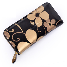 Paul knights of the genuine leather long design women's wallet fashion zipper cowhide clutch small clutch bag wallet female