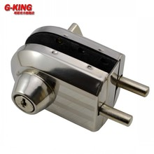 Don't punch glass door locked glass door latch door outside inside and outside the glass lock bolt lock 108B(China)