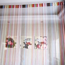 Curtain Colorful Decor String Line Curtain Window Door Panel Room Divider Curtain Home Decor