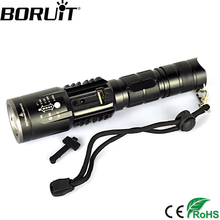 Buy BORUiT 2000LM XML T6 LED Flashlight Zoom 5-Mode Torch USB Output Flash Light Power Bank Portable Lantern Camping Hunting Light for $11.69 in AliExpress store
