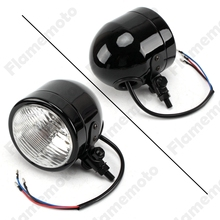 "4 1/4"" Metal Black Mini Motorcycle Parts Retro Vintage Headlight Custom Cafe Racer Bobber Chopper SX650"