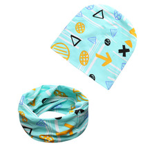 2017 Baby Hat sets Girls Boys With Beanies Standard Children Infant Hats Skull caps Child Scarf Of Boy Girls Ring Scarves 1079