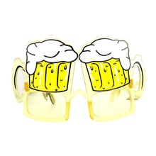 Mask Holiday Party Funny Novel Props Cake Champagne Beer Modeling Cute Glasses PC Material Party Supplies Decoration(China)