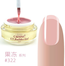 CANNI 25 Colors Camouflage Jelly UV Builder Gel 15 ml Nail Clear Gel Permanent Gel Soak Off Transparent Nail Gel Long Lasting(China)