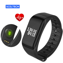 SCELTECH Fitness Tracker Wristband Heart Rate Monitor Smart Band F1 Smartband Blood Pressure With Pedometer Bracelet