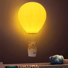 Boruit Creative Hot Air Balloon LED Night Lights Cute Animal Pendant Light Baby Bedside Table Lamps Remote Control USB Charge