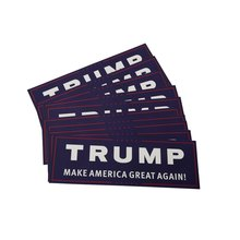 TShirt Market Trump Make America Great Again Bumper Sticker Free Shipping 10 Pack LKT077(China)