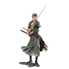 High Quality Anime Figurine Action Figure One Piece Roronoa Zoro PVC Doll Model Toy 15cm
