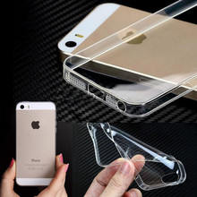 For iPhone 4s 5s 5SE 6 6S 6plus 7 7plus Original Crystal Clear TPU Case Transparent Phone Back Cover Mobile Coque Skin Silicone
