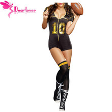 Dear Lover Cosplay Sport Bodysuits Costume Set for Adult Sexy Belle Club Football Costume With Stocking LC8964
