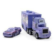 Disney Pixar Cars No.79 Mack Truck + Small Car Retread Metal Toy Car For Children 1:55 Loose Brand New In Stock(China)