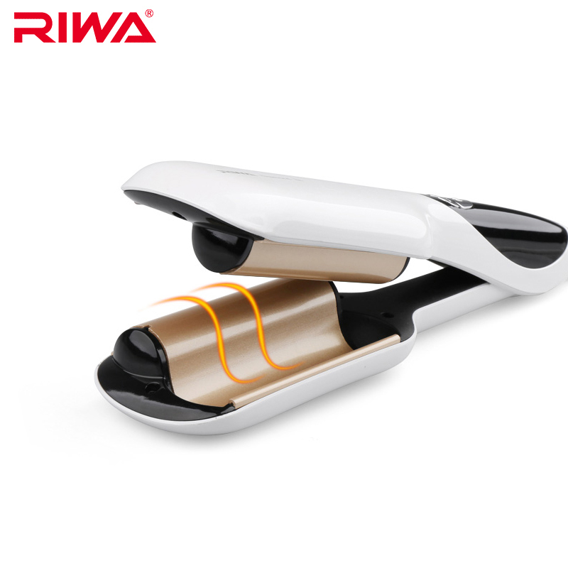 RIWA Electric Curlers Quick Styling Tool Anion LCD Automatic Curling Hair Styler Iron Z6<br>