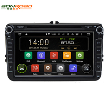 Bonroad Android 7.1.1 Quad Core 1024*600 Ram 2G+ Rom 16GB 2Din Car DVD GPS Navigation Navigator Radio Player For VW  For Skoda